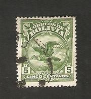 Bo4-12-2. America Correos De BOLIVIA 5 Centavos 1928 Bird Condor - Bolivia