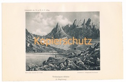 029 Tribulaun Hütte Aquarell Gatt Lichtdruck 1894!! - Drucke