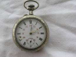 CHRONOMETRE ANCIEN EN ARGENT - Watches: Bracket
