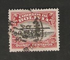 Bo5-1-1. America Correos De BOLIVIA 15 Centavos 1930 Aviacion Nacional - Bolivia