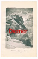 033 Zittelhaus Observatorium Zeno Diemer Lichtdruck 1894!! - Estampes