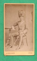 Hythe Kent Militaria Soldat English Soldier Old Photo Photographer Perry  (format CDV 6,3cm X 10,5cm) - Oorlog, Militair