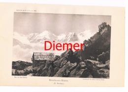 035 Breslauer Hütte Zeno Diemer Lichtdruck 1894!! - Estampes