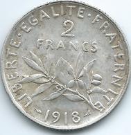 France - 3rd Republic - 1918  - 2 Francs - KM845.1 - France