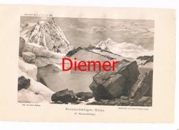 036 Braunschweiger Hütte Zeno Diemer Lichtdruck 1894!! - Estampes