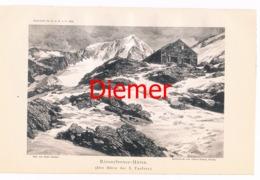 037 Rieserfernerhütte Zeno Diemer Lichtdruck 1894!! - Estampes