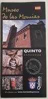 FOLLETO TURISTICO MUSEO DE LAS MOMIAS. QUINTO - ZARAGOZA - ESPAÑA. - Folletos Turísticos