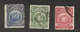 Bo5-1-2. America Correos De BOLIVIA 1 Centavo 5 20 Centavos Coat Of Arms - Bolivia