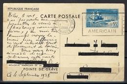 France, Mémorial Américain De La Pointe De Grave, Le 4 Septembre 1938 ( Départ De La Fayette ) - Autres
