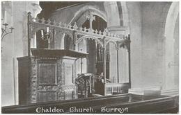 Chaldon Church (interior) Surrey Unused C1907 - Surrey