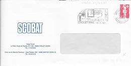 MAINE ET LOIRE 49  -  CHOLET  -  FLAMME N° 11423 - 30 31 MARS 1ER AVRIL PHILEX JEUNES  - 1991 BELLE FRAPPE - Postmark Collection (Covers)