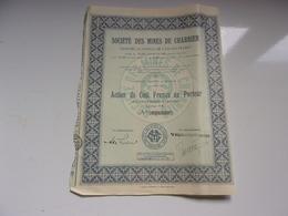 MINES DE CHARRIER (100 Francs) - Actions & Titres
