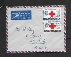 Swaziland, Rec Cross Pair,  Air Mail MBABANE 9 Ix 63 > Windhoek, SWA - Swaziland (...-1967)