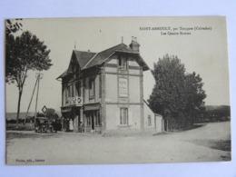 CP (14) Calvados - SAINT ARNOULT, Par Touques - Les Quatre Routes - Café Des Ruines - Altri Comuni