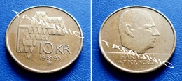 NORWAY  NORGE 10 Kroner 1995 CHURCH ROOFTOP & HARALD V - Norway