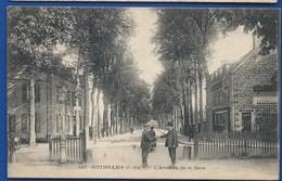 GUINGAMP    Avenue De La Gare     Animées      écrite En 1917 - Guingamp