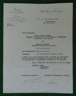 Attestation à Entête Du Sous-Secrétaire De L'Éducation Physique Datée De 1941 - Diplômes & Bulletins Scolaires