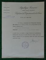 Attestation à Entête De La Direction De L'Enseignement Datée De 1941 - Préfecture De La Seine - Diplômes & Bulletins Scolaires