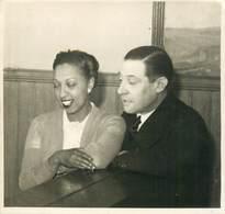 PHOTOGRAPHIE JOSEPHINE BAKER Et Jean GABIN - Célébrités