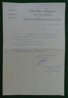Attestation à Entête De La Direction De L'Enseignement Datée De 1940 - Préfecture De La Seine - Diplômes & Bulletins Scolaires