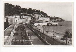 NICE Le Quai Des Etats Unis Et Le Château Gel. 1935 N. Uznach - Nice