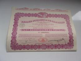 BANQUE D'ALSACE & DE LORRAINE (bénéficiaire) 1928 - Actions & Titres