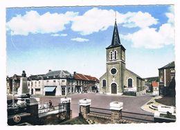 FALISOLLE  Belgique . Place Albert 1er Avec Monument Et église . Colorisée .voir Dos . - Belgique