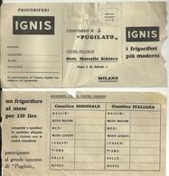 IGNIS--  FRIGORIFERI--  CONCORSO  N.  3 PUGILATO  --2   PEZZI - Autres