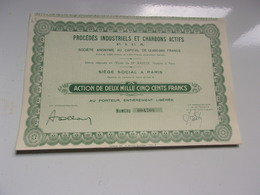 Procédés Industriels Et Charbons Actifs - Actions & Titres