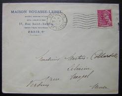 Paris 110 1941 Maison Bouasse Lebel 27 Rue Saint Sulpice Paris - Storia Postale