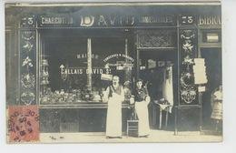COMMERCE - PHOTOS - PARIS RUE DE L'OUEST - Carte Photo De La Maison CALLAIS DAVID - CHARCUTERIE COMESTIBLES Au N° 73 - Magasins