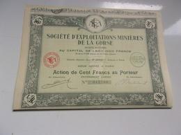 Société D'exploitations Minières De La CORSE (1928) - Actions & Titres