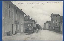 ST OYEN   Route De Macon           Animées    écrite En 1915 - Frankrijk