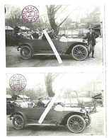 BLANGY SUR BRESLE- Lot De 2 CPAs - Reproduction - Voiture Dans Cour De L'Hôtel De La Poste - Blangy-sur-Bresle