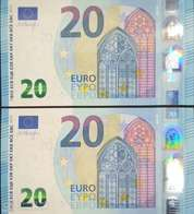 PAAR CORRELATIV EURO SPAIN 20 V006 DRAGHI, UNCIRCULATED - EURO