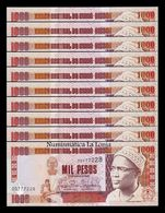 Guinea Bissau Lot Bundle 10 Banknotes 1000 Pesos 1993 Pick 13b SC UNC - Guinee-Bissau
