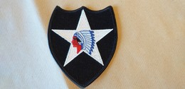 Patch Us Army 2nd Infantry Indian Head Division Periodo WW2 Nuovo - 1939-45