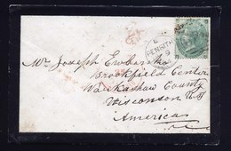 A6208) UK Grossbritannien Brief Penrith 1864 EF Mi.22 N. US - 1840-1901 (Viktoria)