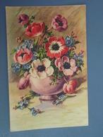 Cp Couleur Bouquet D'anémones. - Fantaisies