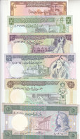 SYRIA 1 5 10 25 50 100 POUNDS 1982 1991 P-93 100 101 102 103 104 UNC SET - Syrie