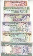 SYRIA 1 5 10 25 50 100 POUNDS 1982 1991 P-93 100 101 102 103 104 UNC SET - Siria
