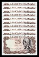 España Spain Lot Bundle 10 Banknotes 100 Pesetas 1970 Pick 152 SC UNC - [ 3] 1936-1975 : Régimen De Franco
