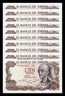 España Spain Lot Bundle 10 Banknotes 100 Pesetas 1970 Pick 152 SC UNC - [ 3] 1936-1975 : Regime Di Franco