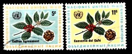 Nations Unies New-York 1966 Mi.Nr: 168-169 Internationales...  Oblitèré / Used / Gebruikt - New-York - Siège De L'ONU