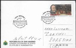 G. ROSSINI - BICENTENARIO NASCITA - ANNULLO SPECIALE SAN MARINO 29.02.1992 SU CARTOLINA - FRANCOBOLLO ROSSINI - Musica
