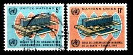 Nations Unies New-York 1966 Mi.Nr: 166-167 Fertigstellung Des...  Oblitèré / Used / Gebruikt - New-York - Siège De L'ONU
