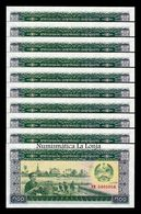 Laos Lao Lot Bundle 10 Banknotes 100 Kip 1979 Pick 30 SC UNC - Laos