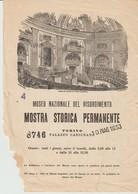 MUSEO NAZIONALE DEL RISORGIMENTO - MOSTRA STORICA PERMANENTE - TORINO - PALAZZO CARIGNANO - 8746 - 1953 - - Publicités