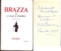 C1 AFRIQUE General Aldebert De CHAMBRUN - BRAZZA Epuise DEDICACE Envoi SIGNED - Books, Magazines, Comics