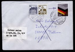A6211) Bund Postkrieg Brief Alzenau 10.01.86 Retourzettel UdSSR - BRD